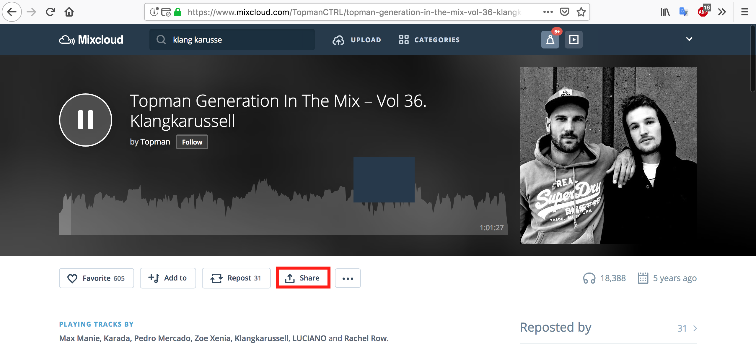 Mixcloud Downloaderの使い方2